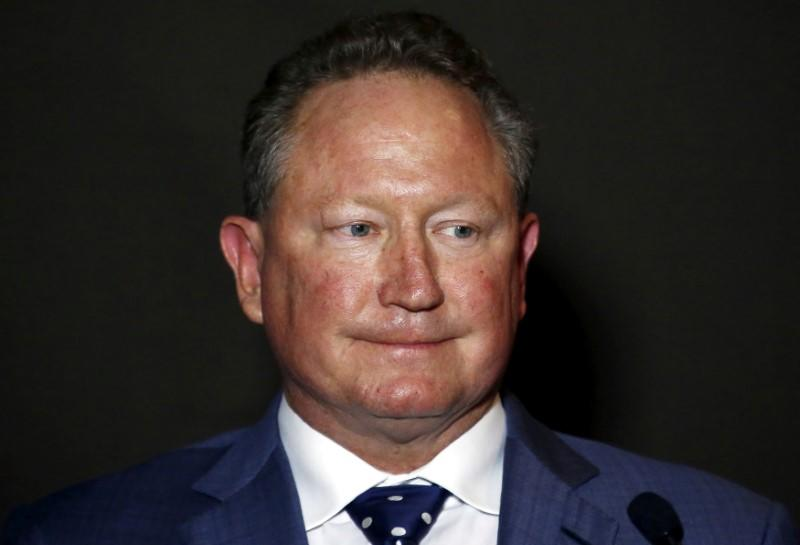 FILE PHOTO - Forrest reacts as he listens to a question during a media conference in Sydney