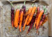 """<p>""""I am quite partial to a spicy and a sweet flavor balance and lean heavily on cayenne and maple to achieve that equilibrium. Not a spice fan? Feel free to omit it and simply roast the carrots without the kick for a sweet, citrusy, nutrient-rich side dish."""" - Miranda of <a href=""""http://crunchyradish.com/thecrunchyradish/2015/11/12/healthy-holiday-series-maple-citrus-roasted-carrots"""" rel=""""nofollow noopener"""" target=""""_blank"""" data-ylk=""""slk:The Crunchy Radish"""" class=""""link rapid-noclick-resp"""">The Crunchy Radish </a></p>"""