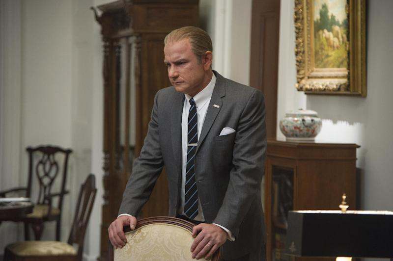 """This film image released by The Weinstein Company shows Liev Schreiber as Lyndon B. Johnson in a scene from """"Lee Daniels' The Butler."""" (AP Photo/The Weinstein Company, Anne Marie Fox)"""