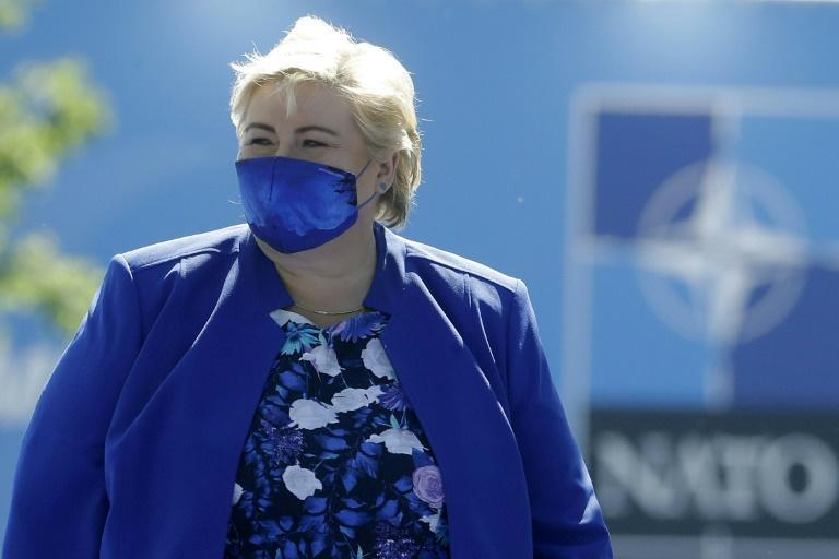 Prime Minister Erna Solberg's centre-right government has led the Nordic country for the last eight years (AFP/Olivier HOSLET)
