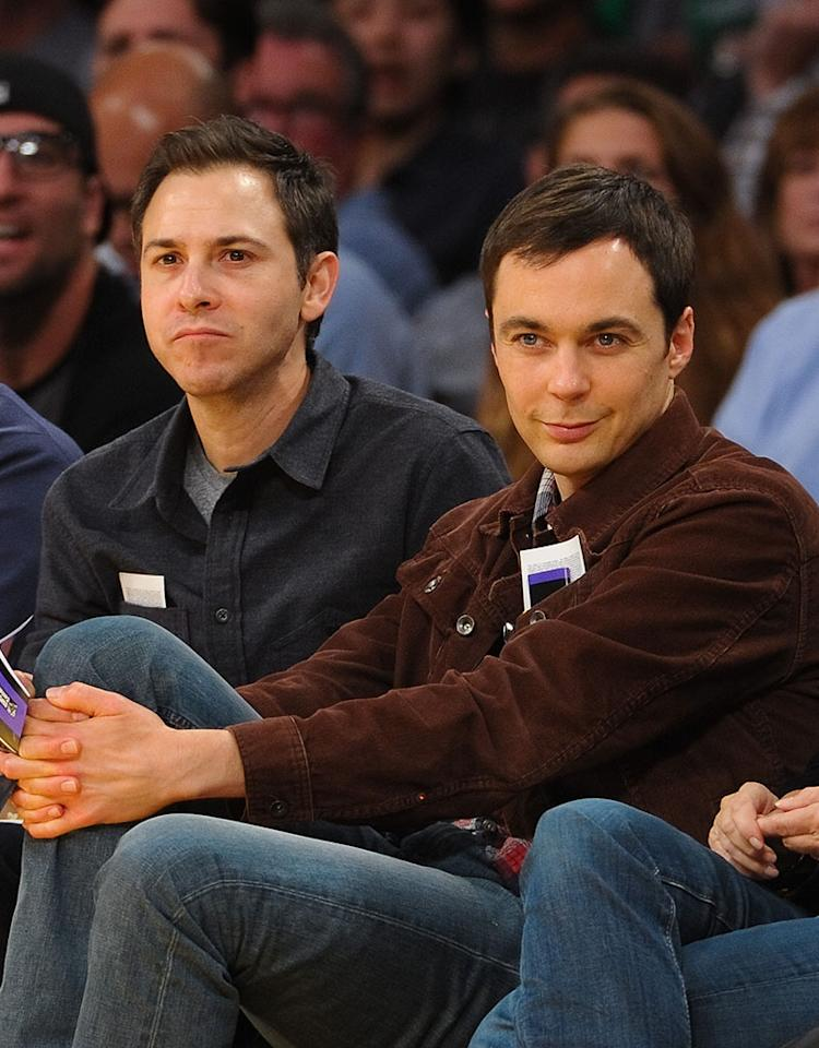 "Emmy winner Jim Parsons, 40, has never spoken openly about his sexuality, but has also never hidden the fact that he's in an 11-year relationship with art director Todd Spiewak. (""The Big Bang Theory"" star thanked his partner during his acceptance speech at the 2010 Emmy Awards.) However, the actor quietly came out of the closet in a <a href=""http://theater.nytimes.com/2012/05/27/theater/jim-parsons-prepares-for-his-lead-role-in-harvey.html?_r=0"" target=""_blank"">New York Times profile</a> in 2012 that touched on Parsons's role in the 2011 Broadway revival of ""The Normal Heart,"" an HIV/AIDS drama, which the writer of the story said resonated with Parsons because he is gay."
