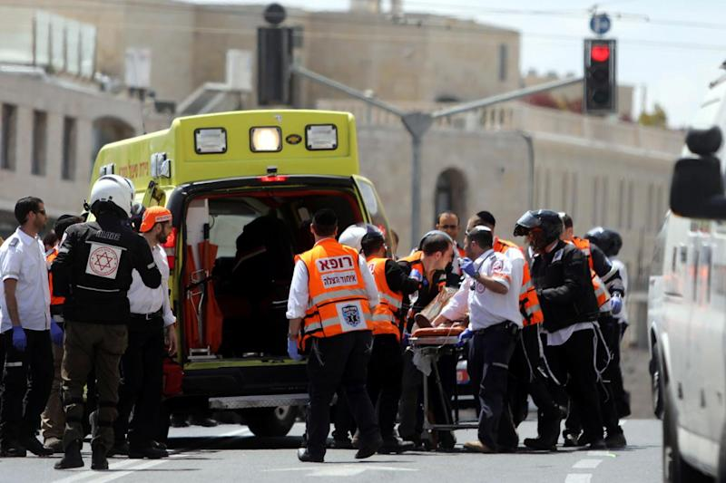 Two other people suffered injuries in the knife attack on a train in Jerusalem (Reuters)