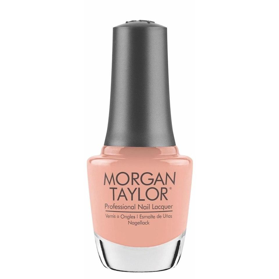 Part of Morgan Taylor's Feel the Vibes collection, It's My Moment is a sweet, mellow, pale peach. If your usual go-to shade is pastel pink or muted nude, this is a lovely way to switch things up — a teensy bit bolder and brighter without really turning up the intensity. Bonus: It features an especially cuticle-friendly brush that makes life a little easier for those of us who aren't super graceful in the application department.