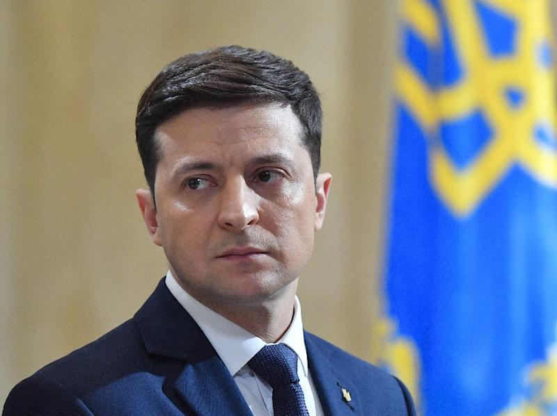 Ukrainian comic actor Volodymyr Zelensky will become the country's youngest post-Soviet president (AFP Photo/Sergei SUPINSKY)