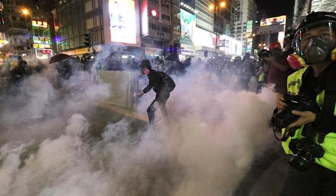 Police fired 260 rounds of tear gas. Photo: Felix Wong