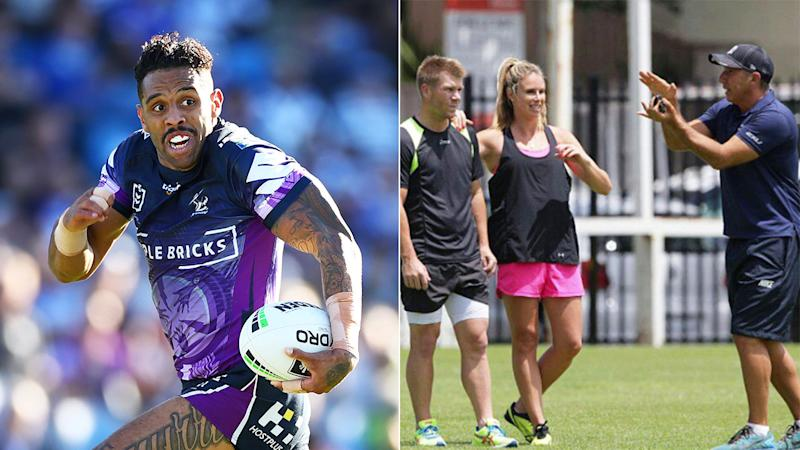 Josh Addo-Carr and David Warner have both worked with Roger Fabri. Pic: