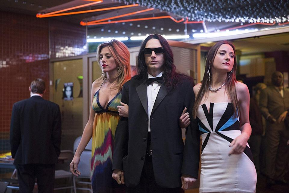 <p>James Franco was a Golden Globe winner for his turn as Tommy Wiseau in <em>The Disaster Artist</em>, but despite that accolade, he was shut out of the Best Actor race — an omission that may have had something to do with the sexual misconduct allegations that surfaced just days before the Oscar balloting closed. (Photo: A24) </p>