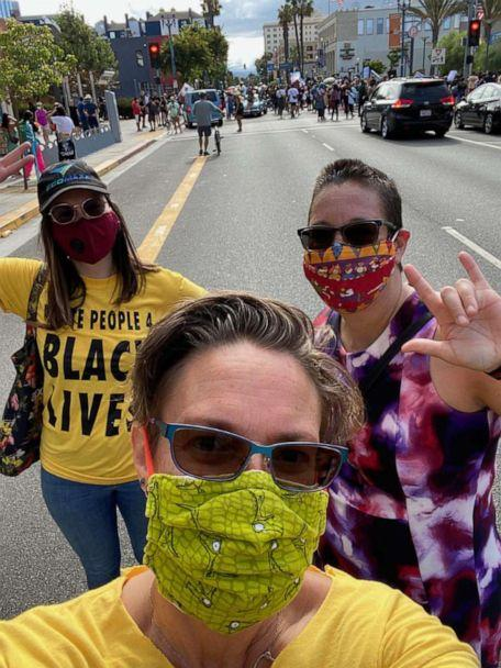 PHOTO: White People at a protest in Los Angeles, California for Black Lives Organizer Hannah Jurs-Allen. (Danielle Reidy)