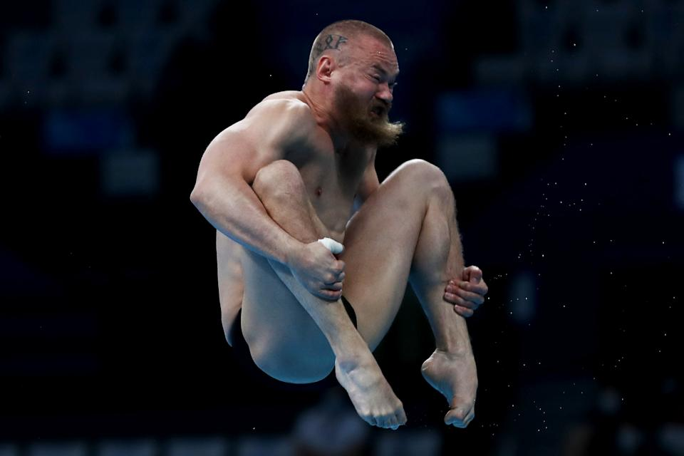 <p>Evgeny Kuznetsov of Team ROC competes in the Men's 3m Springboard Semifinal on day eleven of the Tokyo 2020 Olympic Games at Tokyo Aquatics Centre on August 03, 2021 in Tokyo, Japan. (Photo by Maddie Meyer/Getty Images)</p>