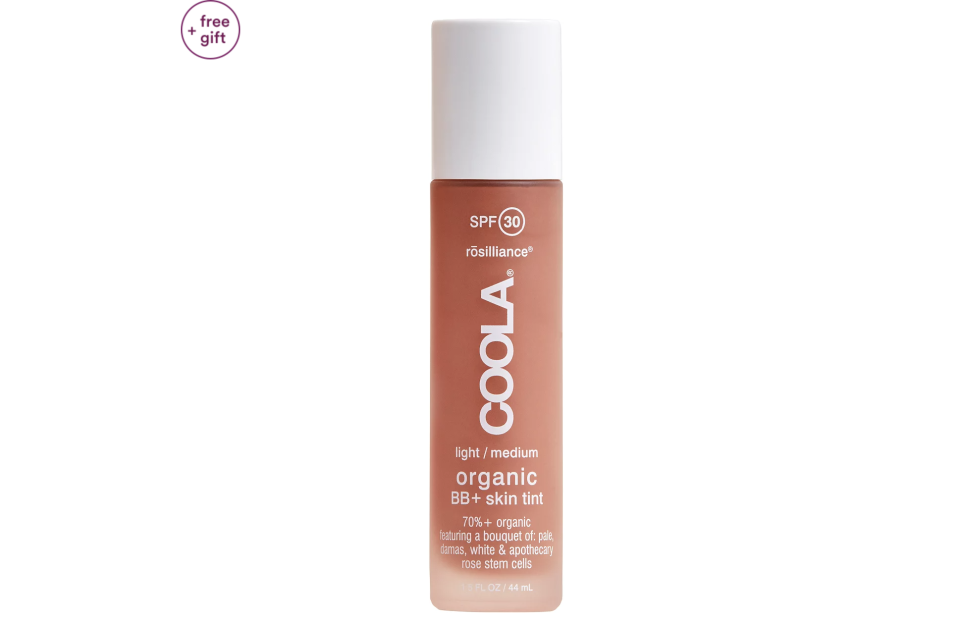 """<p><strong>COOLA</strong></p><p>ulta.com</p><p><strong>$36.40</strong></p><p><a href=""""https://go.redirectingat.com?id=74968X1596630&url=https%3A%2F%2Fwww.ulta.com%2Forganic-bb-skin-tint-spf-30%3FproductId%3DxlsImpprod17761877&sref=https%3A%2F%2Fwww.marieclaire.com%2Fbeauty%2Fmakeup%2Fg3427%2Fbest-bb-creams%2F"""" rel=""""nofollow noopener"""" target=""""_blank"""" data-ylk=""""slk:SHOP IT"""" class=""""link rapid-noclick-resp"""">SHOP IT </a></p><p>This BB cream should be your go-to during hot summer months. The water-resistant, SPF-filled formula offers a light veil of coverage. </p>"""