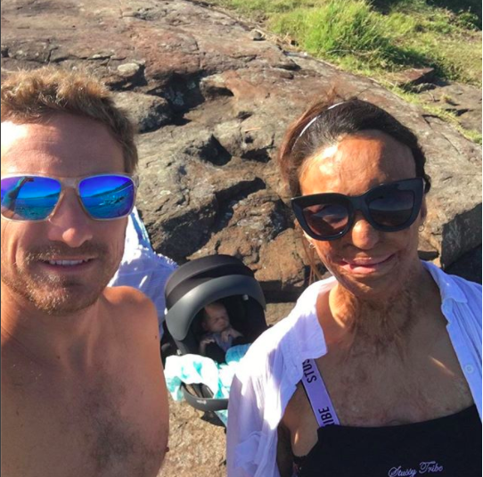 She and fiance Michael Hoskin are loving life as a young family. Photo: Instagram/Turia Pitt