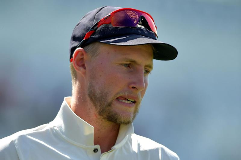 Defeat: Joe Root was on the losing end of the first time as England skipper on Monday: AFP/Getty Images