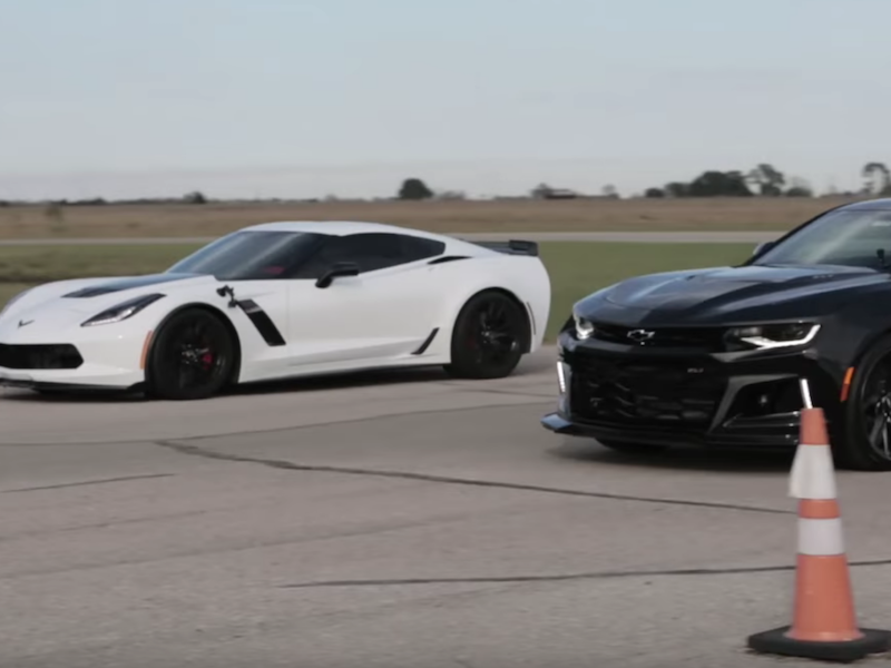 Watch Hennessey Race The 2017 Chevy Camaro Zl1 Against The