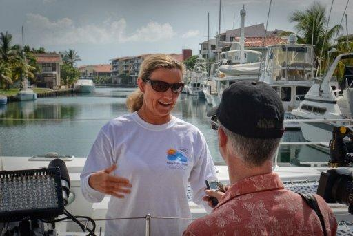 Penny Palfrey is vying to become the first person to make the 165km swim across the Florida Straits without a shark cage