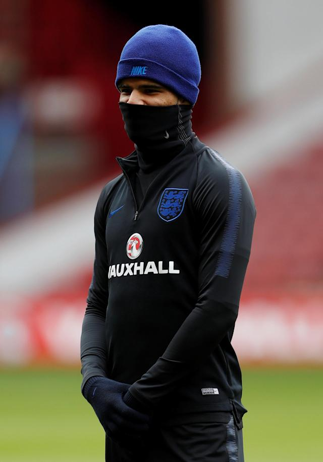 Soccer Football - England Under 21 Training - Bramall Lane, Sheffield, Britain - March 26, 2018 England's Dominic Solanke during training Action Images via Reuters/Lee Smith