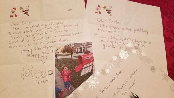 PHOTO: Piper Falli wrote that she wanted a princess scooter from Santa in her letter. (Shawna Calvert/Letters to Santa Mail Station)