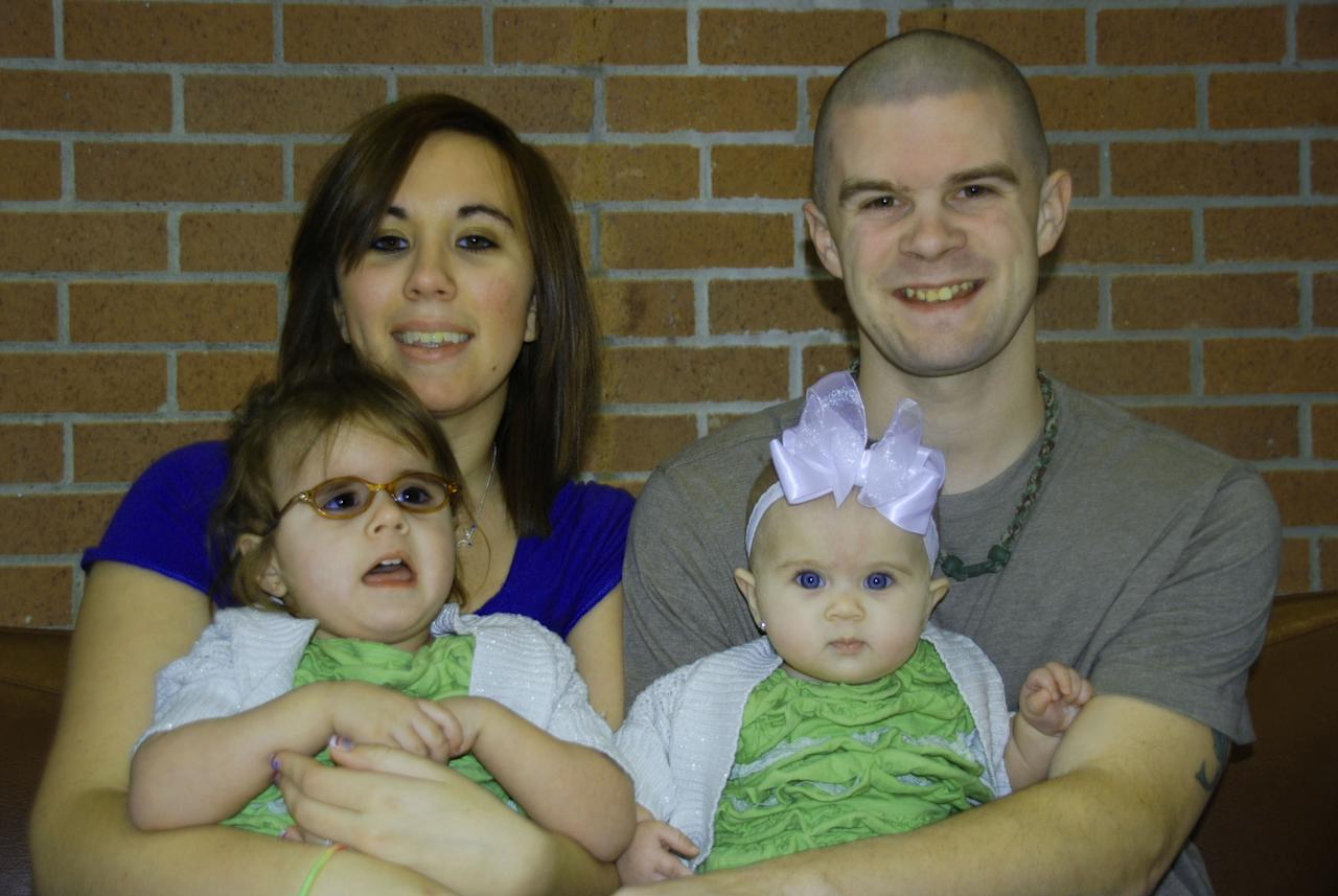 Kyle, Krystal, and their daughters Aubrey and Chloe. (Photos courtesy of Kyle and Krystal)