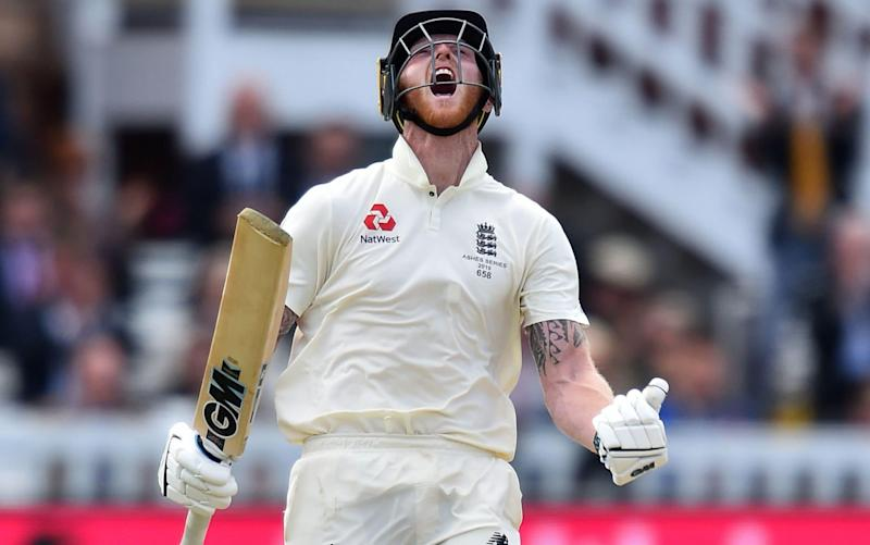 Stokes hit a magnificent Ashes hundred at Lord's, his seventh Test century - AFP