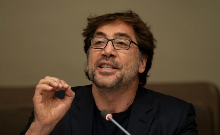 Actor Javier Bardem calls on world leaders to agree a Global Ocean Treaty during a meeting at the United Nations in New York
