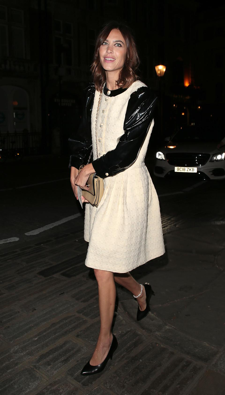 Alexa Chung seen attending the Fashion For Relief gala event during London Fashion Week [Photo: Getty Images]