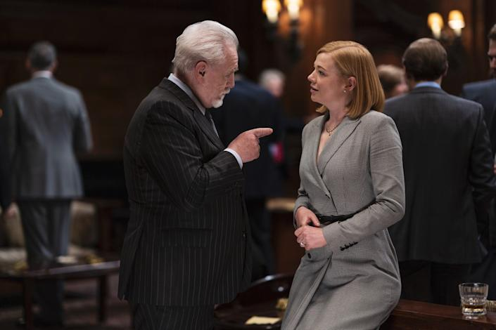 """Brian Cox and Sarah Snook in """"Succession."""""""