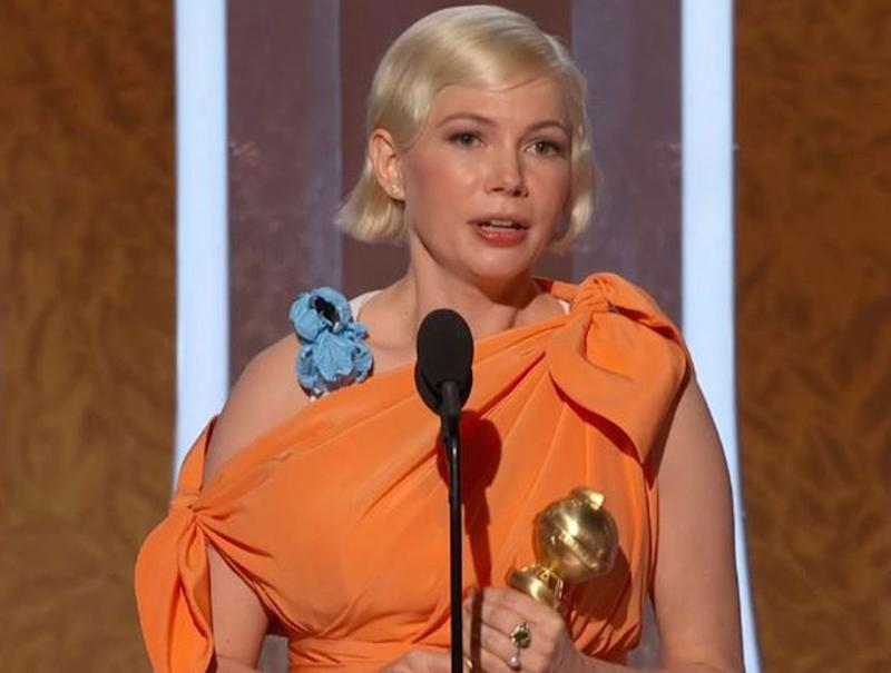 Michelle Williams at the 2020 Golden Globes | NBC