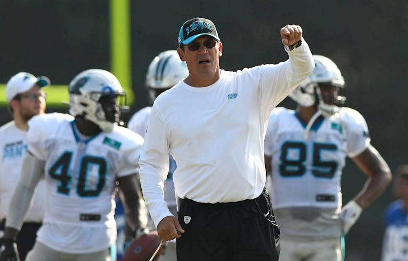In eight seasons as Panthers head coach, Ron Rivera has steered his team to a Super Bowl appearance and also suffered a seven game losing streak.