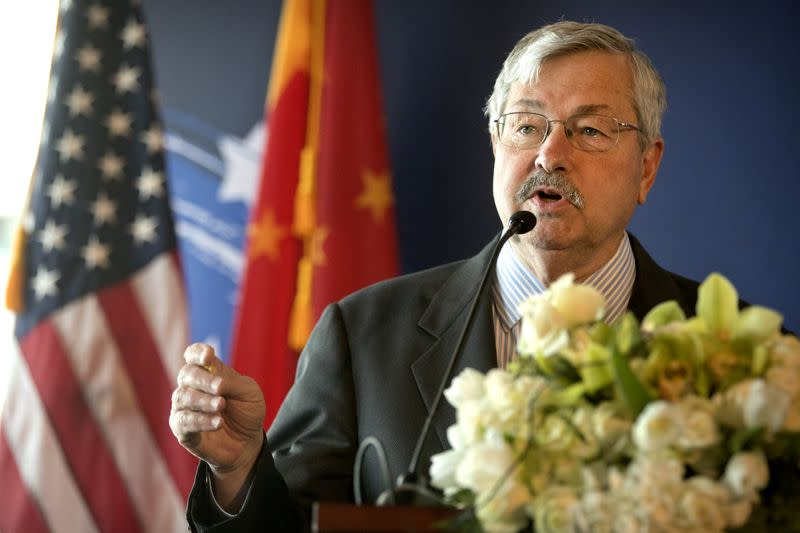 U.S. ambassador to China Branstad leaving post to help Trump campaign: U.S. official