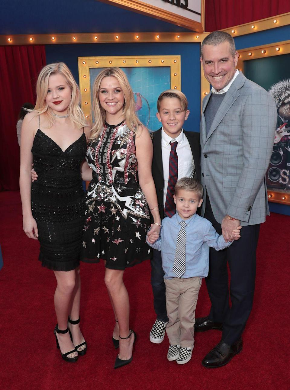 """<p>The duo matched in black dresses for the premiere of Reese's film Sing <span class=""""redactor-invisible-space"""">with their family</span></p>"""