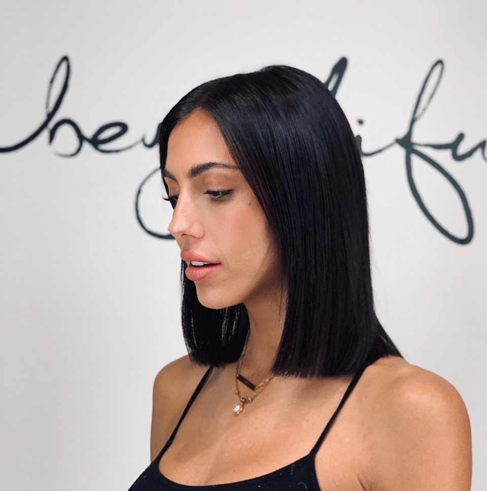 Hulguin notes that more of his clients are asking for blunt cuts, since they're bold and make your hair look fuller. While a blunt bob is definitely a statement cut, the style looks equally as good in a collarbone-grazing lob.