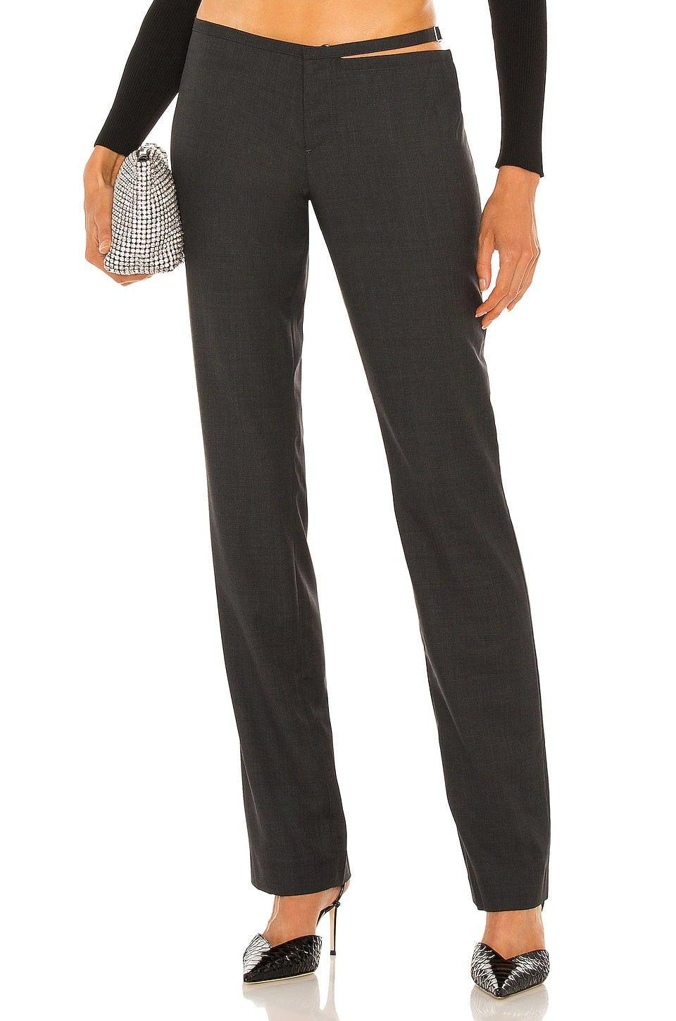 <p>This <span>Aya Muse Soraya Pant</span> ($480) looks like a classic dress pant. However, the low rise and hip cutout make it feel modern.</p>