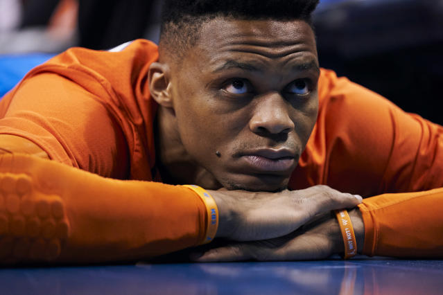 Russell Westbrook is reportedly open to leaving the Oklahoma City Thunder. (Getty Images)