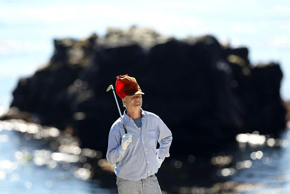 <p>Bill Murray waits to hit on the 8th hole during the third round of the AT&T Pebble Beach National Pro-Am at the Pebble Beach Golf Links on February 12, 2011 in Pebble Beach, California.</p>