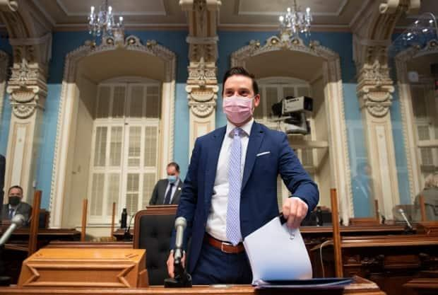 Quebec Justice Minister Simon Jolin-Barrette and the Legault government tabled Bill 96 on Thursday.