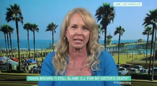 Nicole Brown Simpson's sister, Tanya Brown, appears on 'This Morning' - 25 years after her sibling's murder. (Credit: ITV)