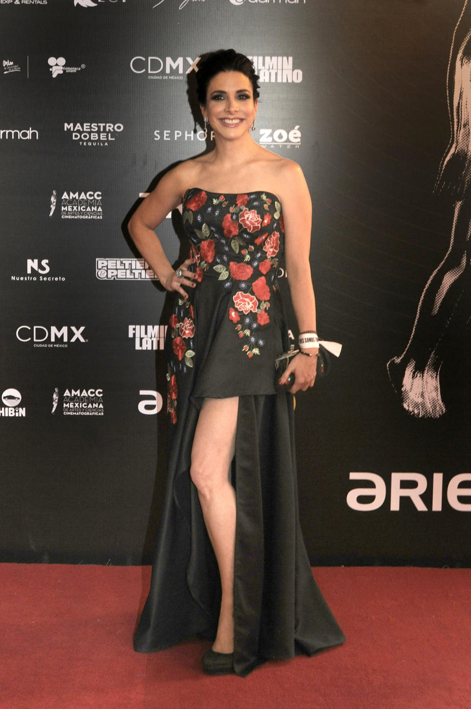 MEXICO CITY, MEXICO - JUNE 5: Mexican actress Verónica Toussaint poses during the Red Carpet of 60th Ariel Awards at Palacio de Bellas Artes on June 5, 2018 in Mexico City, Mexico.  (Photo by Pedro Martin Gonzalez Castillo/Getty Images)
