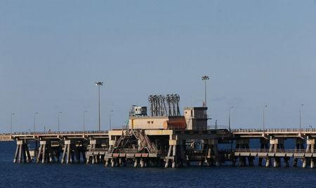FILE PHOTO: View shows the industrial zone at the oil port of Ras Lanuf