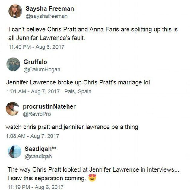 Fans are blaming J.Law! Source: Twitter