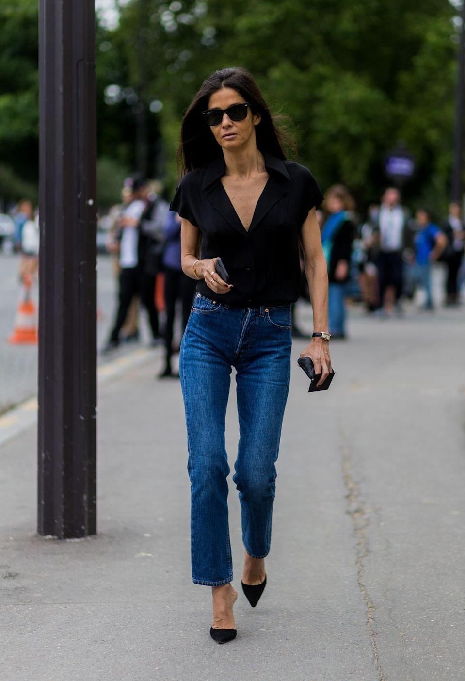 <p>This one is a given. Every girl needs a pair of classic blue jeans.</p>