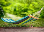 <p>Play up your garden's cozy factor with a stylish hammock, designed for an afternoon nap or getting lost in a good book. </p>