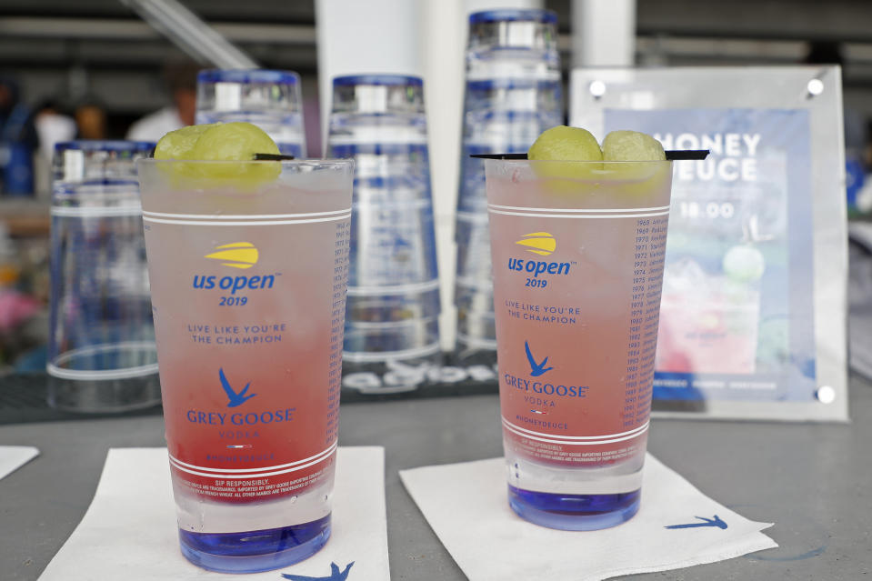 Sep 2, 2019; Flushing, NY, USA; Honey Deuce grey goose signature cocktails for sale on day eight of the 2019 US Open tennis tournament at USTA Billie Jean King National Tennis Center. Mandatory Credit: Geoff Burke-USA TODAY Sports