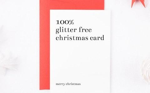 Sarah Burns Prints 100 Per cent Glitter Free Christmas Card from Etsy - Credit: Etsy