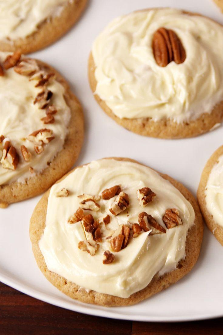"""<p>Buttery cookies smothered with a maple frosting = HEAVEN.</p><p>Get the recipe from <a href=""""https://www.delish.com/cooking/recipe-ideas/recipes/a50804/butter-pecan-cookies-recipe/"""" rel=""""nofollow noopener"""" target=""""_blank"""" data-ylk=""""slk:Delish"""" class=""""link rapid-noclick-resp"""">Delish</a>.</p>"""