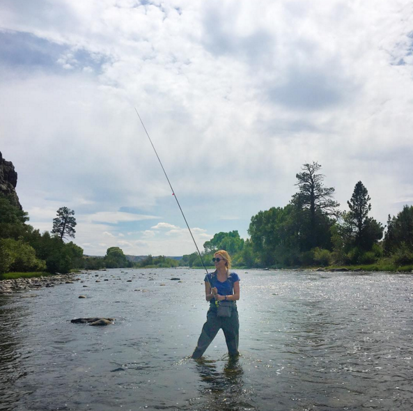 "<p>Supermodels go fishing too! Klossy looked liked a pro during an end-of-summer adventure in Saratoga, Wyoming. However, she had little success, quipping, ""I got bagel bites."" Maybe the leggy beauty will have better luck with bestie Taylor Swift in Watch Hill, R.I., next summer. <i>(Photo: <a rel=""nofollow"" href=""https://www.instagram.com/p/BJglCcXgr-N/?taken-by=karliekloss&hl=en"">Instagram</a>)</i><br /></p>"