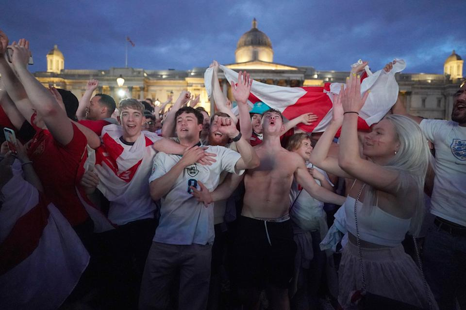 Fans watching Ukraine v England (PA Wire)