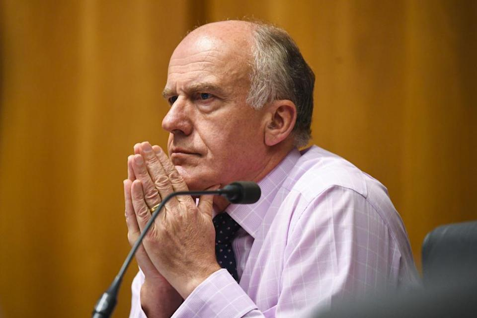 Liberal Senator Eric Abetz at the Senate inquiry.