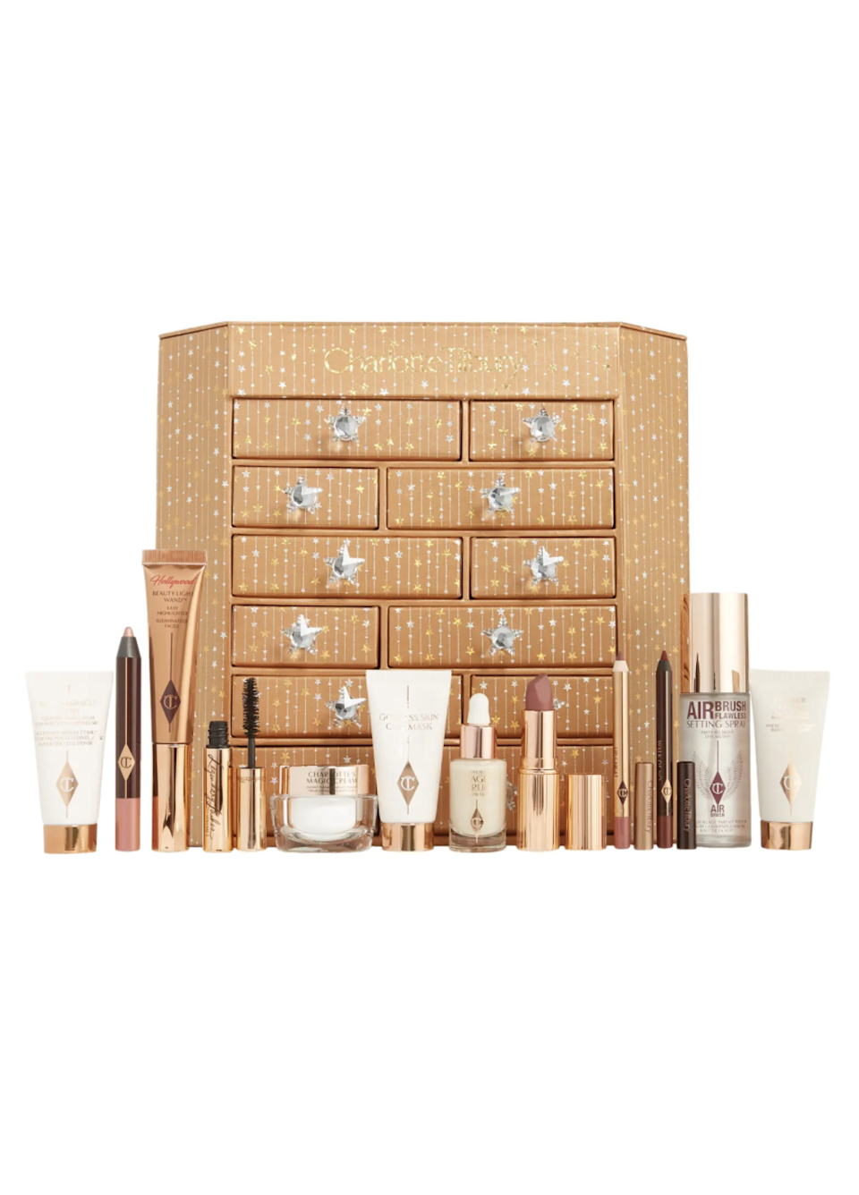 """<h2>Charlotte Tilbury Charlotte's Beauty Dreams & Secrets Advent Calendar Set</h2><br>Makeup artist Charlotte Tilbury is synonymous with glam, making this <a href=""""https://www.refinery29.com/en-us/2020/09/10056342/beauty-advent-calendars-2020"""" rel=""""nofollow noopener"""" target=""""_blank"""" data-ylk=""""slk:beauty advent calendar"""" class=""""link rapid-noclick-resp"""">beauty advent calendar</a> a wow-worthy gift. The 12 drawers conceal nine travel-size and three full-size skincare and make-up treats. <br><br><strong>Charlotte Tilbury</strong> Charlotte's Beauty Dreams & Secrets Advent Calendar Set, $, available at <a href=""""https://go.skimresources.com/?id=30283X879131&url=https%3A%2F%2Fwww.nordstrom.com%2Fs%2Fcharlotte-tilbury-charlottes-beauty-dreams-secrets-advent-calendar-set%2F6492948"""" rel=""""nofollow noopener"""" target=""""_blank"""" data-ylk=""""slk:Nordstrom"""" class=""""link rapid-noclick-resp"""">Nordstrom</a>"""