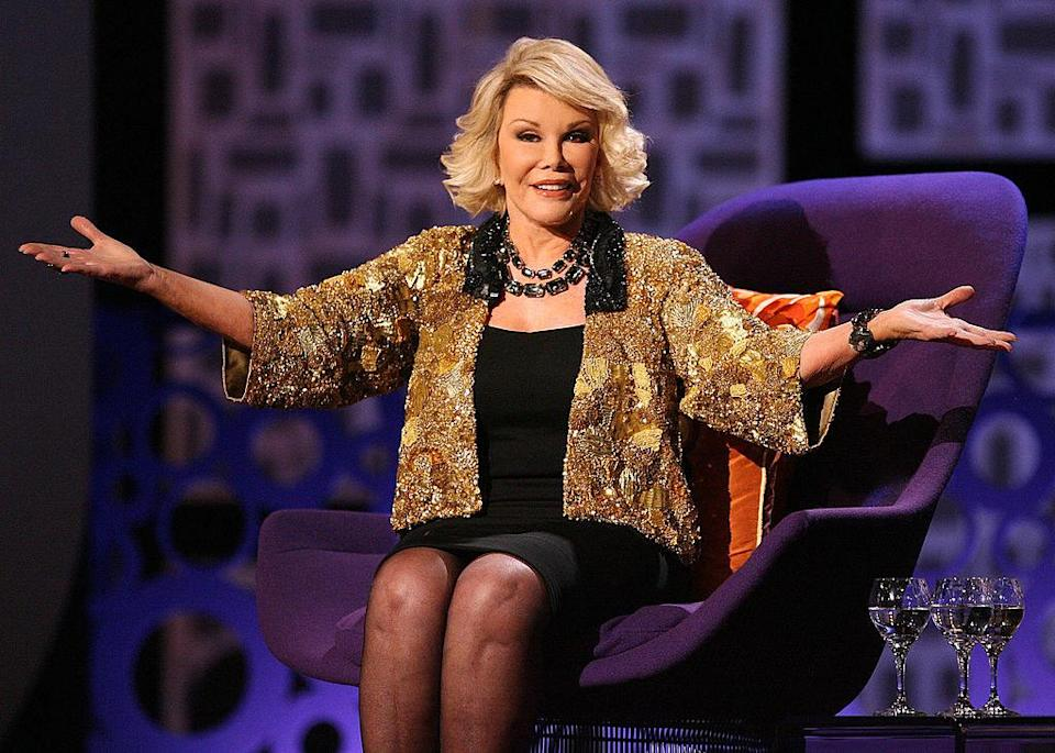 Joan Rivers on stage
