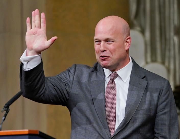 Trump's choice of Matthew Whitaker to run the Justice Department is under attack in the courts. (Photo: ASSOCIATED PRESS)
