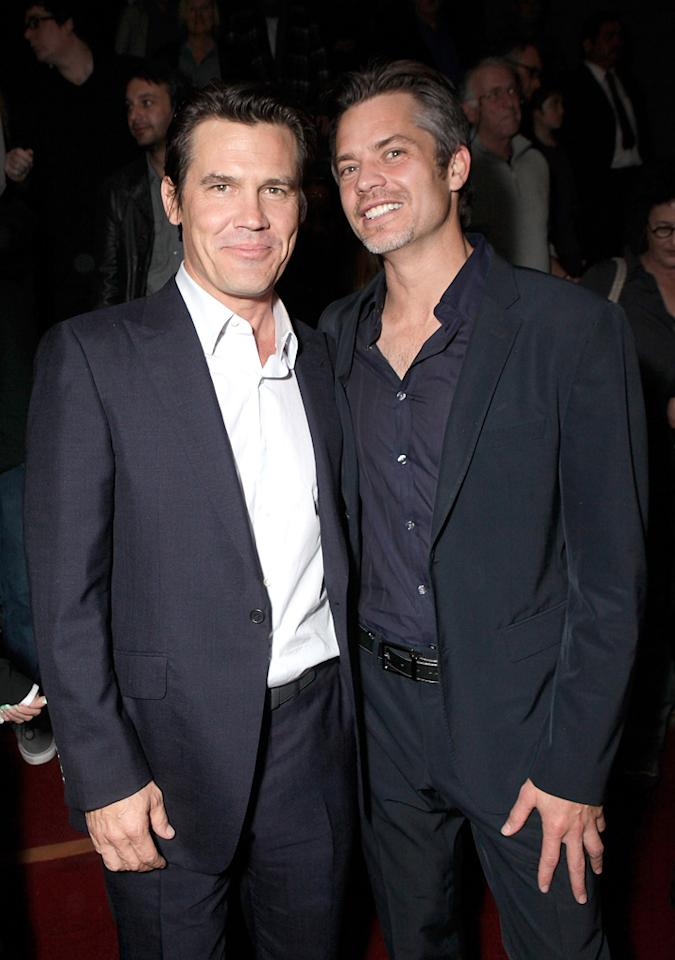 "<a href=""http://movies.yahoo.com/movie/contributor/1800019611"">Josh Brolin</a> and <a href=""http://movies.yahoo.com/movie/contributor/1800018994"">Timothy Olyphant</a> attend the Los Angeles screening of <a href=""http://movies.yahoo.com/movie/1810153253/info"">True Grit</a> on December 9, 2010."